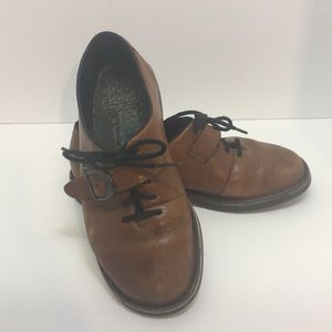 Rieker brown lace cross over shoe size 37 6.5